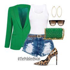 Fashion Days, Denim Fashion, Womens Fashion, Street Fashion, Short Outfits, Chic Outfits, Fashion Killa, Summer Girls, Green Colors