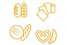 Bread symbols by seamartini on Creative Market