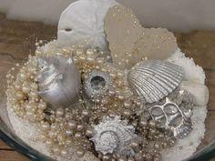 Sea Shell Assortment (Silver) - Beach Decor, Wedding Decor. $15.00, via Etsy.
