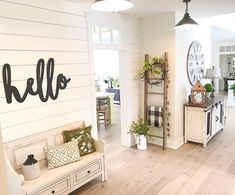 Hello Word Wood Cut Wall Art Sign Large Statement Entryway Living room business Decor This word hello is perfect for your mantel,kitchen, living room, or on your porch or patio. Living Room Remodel, Home Living Room, Living Room Designs, Kitchen Living, Apartment Living, Wood Home Decor, Entryway Decor, At Home Decor, Kitchen Entryway Ideas