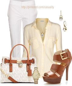 """""""Michael Kors Bag, Jewelry, Shoes"""" by casuality on Polyvore"""