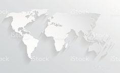 3d paper design world map illustration royalty-free stock vector art