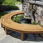 The Circa curved backless two piece half circle bench adds unique style to any outdoor space. Order this unique curved teak bench today. Teak Garden Bench, Teak Garden Furniture, Outdoor Furniture, Outdoor Sofa Sets, Outdoor Decor, Outdoor Ideas, Outdoor Living, Curved Bench, Fire Pit Designs