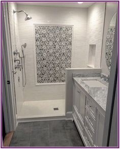 29 Popular Bathroom Shower Tile Design Ideas And Makeover. If you are looking for Bathroom Shower Tile Design Ideas And Makeover, You come to the right place. Here are the Bathroom Shower Tile Design. Walk In Shower Designs, Bathroom Tile Designs, Bathroom Renos, Bathroom Interior Design, Bathroom Renovations, Modern Bathroom, Bathroom Ideas, Small Bathrooms, Simple Bathroom