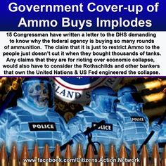 The failure on behalf of the federal government to provide any explanation for why the Department of Homeland Security is arming to the teeth with high powered weapons and billions of hollow point bullets, as well as crude efforts by mainstream media mouthpieces to debunk the war-like preparations, have backfired massively, propelling the story to a viral status.    Read more:  www.infowars.com/...