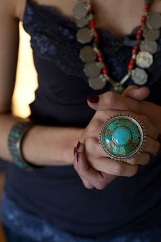 Tribal Ring/Coin Necklace
