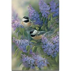WGI Gallery 'Chickadees and Lilac' Wall Art Print