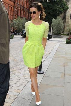 Tailored Neon Dress.