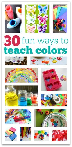 30 fun ways of matching, sorting and color mixing ideas.