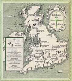 MAPS FROM THE FESTIVAL OF BRITAIN, 1951