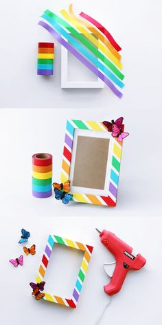 40 Beautiful DIY Photo Frame Ideas to Use in Special Moments - Bored Art : You can use these marvelous photo frames for expressing your love. We've gathered beautiful DIY photo frame ideas to use in special moments. Kids Crafts, Diy Home Crafts, Creative Crafts, Diy Crafts Gift Ideas, Craft Ideas, Cool Picture Frames, Photo Frames For Kids, Photo Frames Diy, Photo Frame Ideas