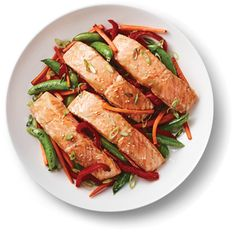 Kraft Anything Dressing : Sesame Salmon with Stir-Fried Vegetable Medley