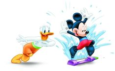 Mickey & Donald running through the sprinkler to stay cool. Mickey Mouse And Friends, Mickey Minnie Mouse, Disney Mickey, Disney Pixar, Disney Characters, Disney Toes, Baby Disney, Disney Clipart, Art Clipart