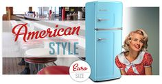 American Style Euro Size Refrigerator | Big Chill