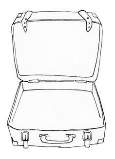 Afbeeldingsresultaat voor koffer tekenen