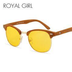 ROYAL GIRL Fashion Men Women Night Vision Sunglasses Anti-blue Light Brand Designer Acetate Frame Sun Glasses oculos ss690