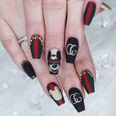 Nobody can ever claim that they do not like cute nailart ideas. Nailarts are one of the most gorgeous forms of makeup. You see generally all types of makeup have some…View Post Bling Nail Art, Cute Nail Art, Bling Nails, Really Cute Nails, Super Cute Nails, Claw Nails, Gel Nails, Nail Polish, Cute Nail Designs