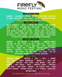 All about Firefly Music Festival and all the best music festivals arond the world, including news, lineups, locations and tickets! Festival Guide, Festival Gear, Festival Camping, American Music Festival, American Festivals, Live Music, Good Music, Firefly Music Festival, Hippie Sabotage