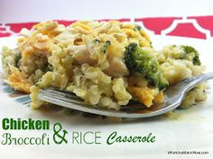 Whatcha Makin' Now?: Chicken Broccoli and Rice Casserole