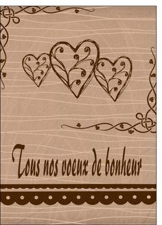 Carte Tous nos voeux de bonheur pour envoyer par La Poste, sur Merci-Facteur !