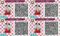 Animal Crossing New Leaf Qr Code Mickey Mouse Face board
