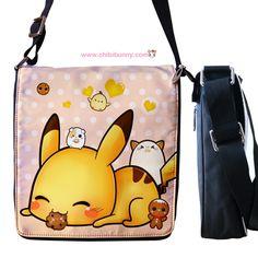 Pikachu - Cute kawaii removable flap messenger bag - RMB10