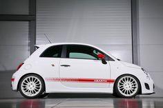 Fiat 500 Abarth in white!!