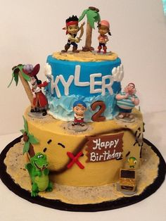 Jake & The Neverland Pirates Birthday Cake by Dana Rakes