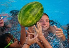 Backyard Olympics: Watermelon polo by Jerry Pennington Photography
