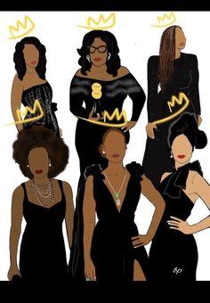 Golden globes Black women art