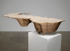 Caspian Sea by Maya Lin. Sculpture and wood.