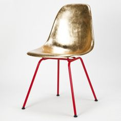 Eames Side Chair Golden Charles U0026 Ray Eames / Reha Okay Hermann Miller /  Okay Art Material: Gold Leaf, Fiberglass, Laquered Metal (Hand Gilded Then  ... Design Ideas