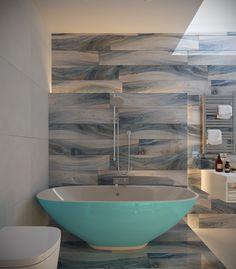 натуральный голубой вдохновение ванной