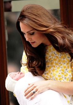 Kate and her sweet baby Princess. May 2, 2015. Charlotte Elizabeth Diana, Princess of Cambridge. ♡