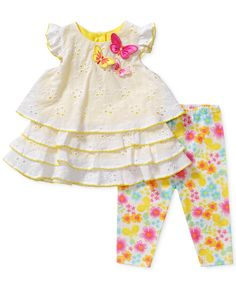 Sweet Heart Rose Baby Girls' 2-Piece Floral Top & Pants Set - Kids Baby Girl (0-24 months) - Macy's