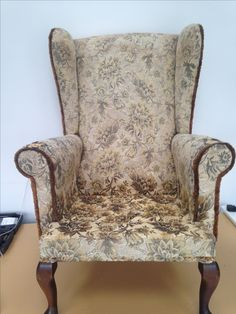 Vintage winged arm chair, revamped.