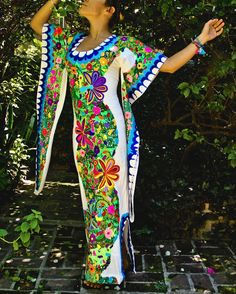 The Most Astonishingly Beautiful Hand Embroidered Kimono/Tunic Style Mexican Dress on Etsy, $1,500.00