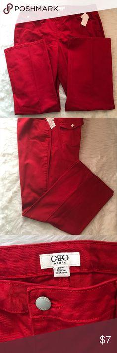 "✔️NWT Cato Woman Red Denim  Size 22W ✔️NWT✔️Cato Woman✔️Inseam 32""✔️Flap Pockets Cato Woman Pants"