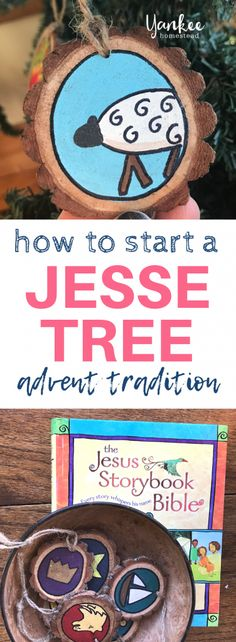 So starten Sie eine Jesse Tree Advent Tradition – Yankee Homestead - Advent Family Christmas, All Things Christmas, Christmas Holidays, Christmas Crafts, Christmas Tables, Nordic Christmas, Modern Christmas, Christmas Ornament, Christmas Ideas