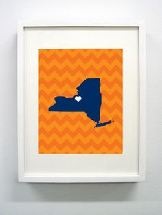 Syracuse University Giclée Print  8x10   Go Orange  by PaintedPost, $14.00