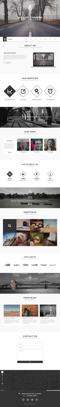 CHRONA - Responsive One Page HTML5 Template by aldhy dany, via Behance