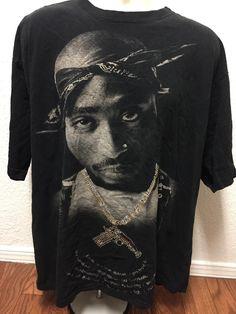 Tupac Shakur 2Pac Shirt 2XL Hip-Hop Rap Death Row #rare