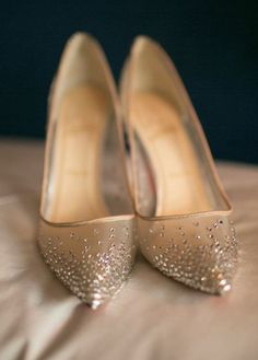 Featured Photographer: Kimberly Coccagnia; Wedding shoes idea