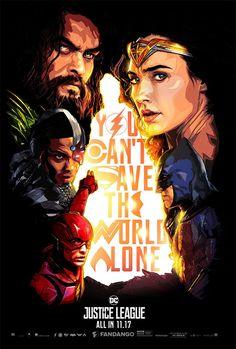 Un genial cartel de Liga de la Justicia