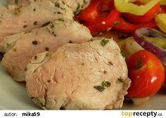 Bylinkové vepřové palce (panenka) pečené v papilotě recept - TopRecepty.cz Mashed Potatoes, Pork, Meat, Chicken, Ethnic Recipes, Whipped Potatoes, Kale Stir Fry, Smash Potatoes, Pork Chops