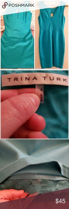 Spotted while shopping on Poshmark: Trina Turk Cocktail Aquamarine Dress! #poshmark #fashion #shopping #style #Trina Turk #Dresses & Skirts