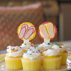 Quickutz flip flop cupcakes using quickutz lifestyle crafts dies. www.cutathome.com