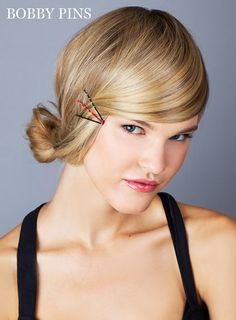 10 Genius Ways to Use Bobby Pins: Create Sweeping Bangs | MarieClaire.com