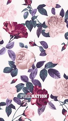 Another cute floral PINK NATION wallpaper