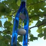 Recycled Wine Bottle Wind Chime • Recyclart